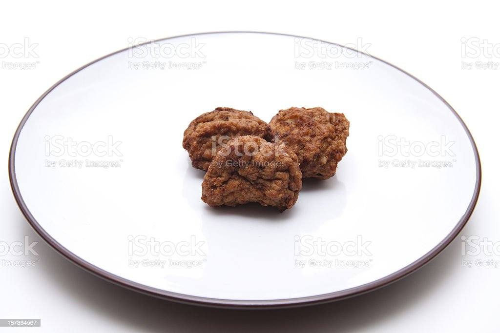 Minced meat on plate stock photo