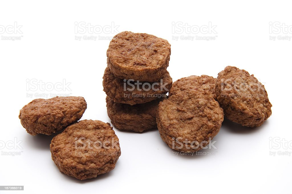 Minced meat small ball roasted stock photo
