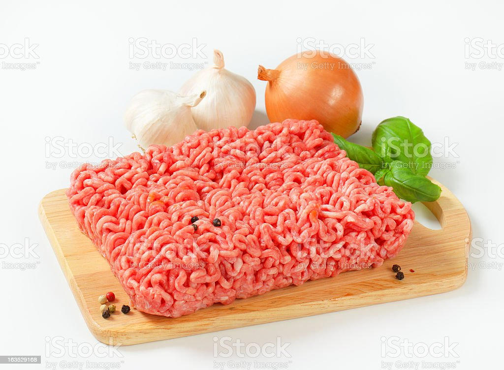 minced meat with vegetable and spices royalty-free stock photo