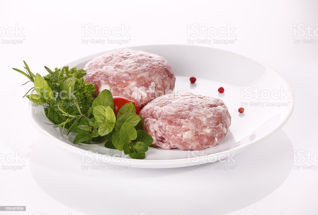 Minced raw meat royalty-free stock photo