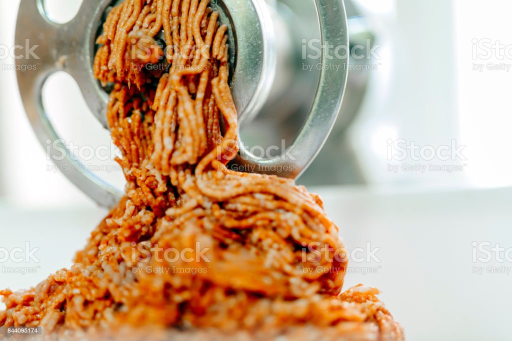 Minced raw meat stock photo