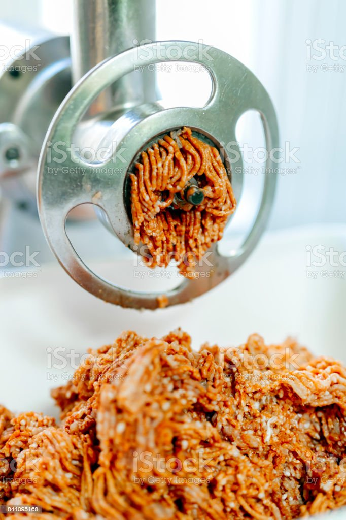 Minced raw red meat stock photo