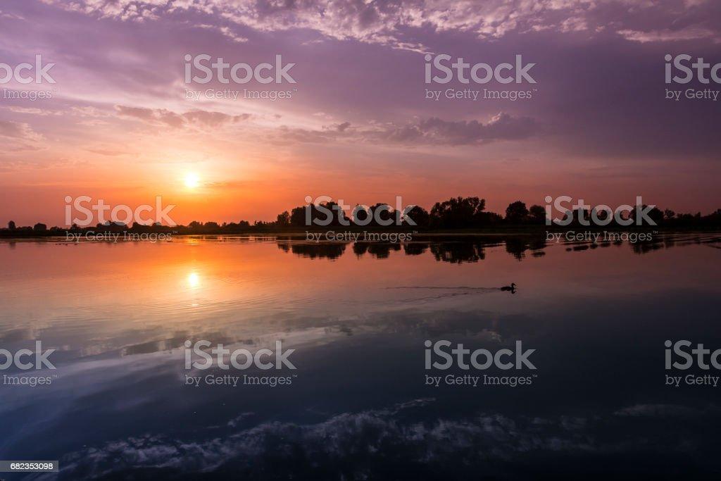 Mincio river royaltyfri bildbanksbilder