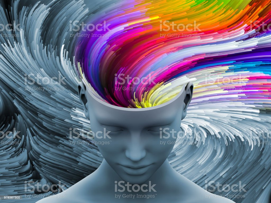 Mind Coloring stock photo