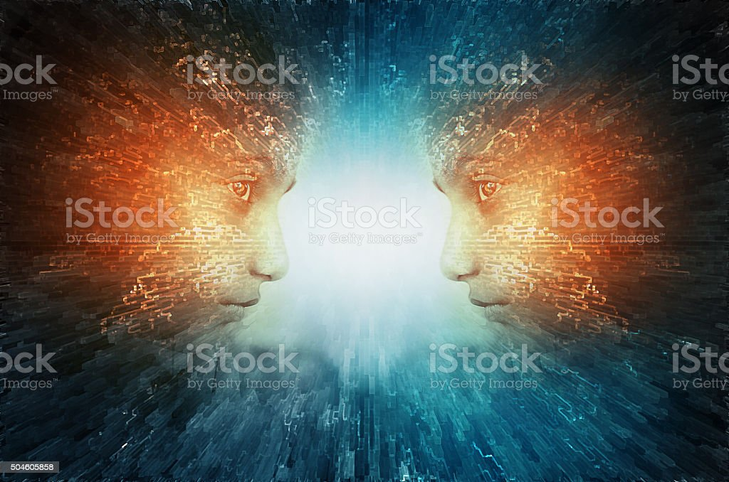 Mind power abstract stock photo