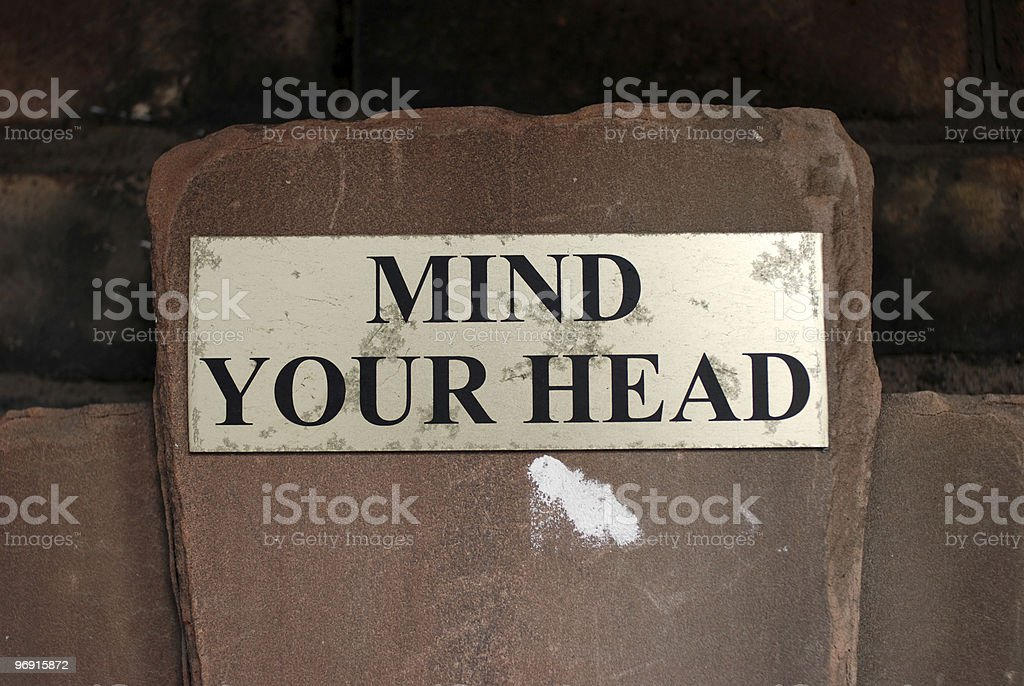 Mind your head sign royalty-free stock photo