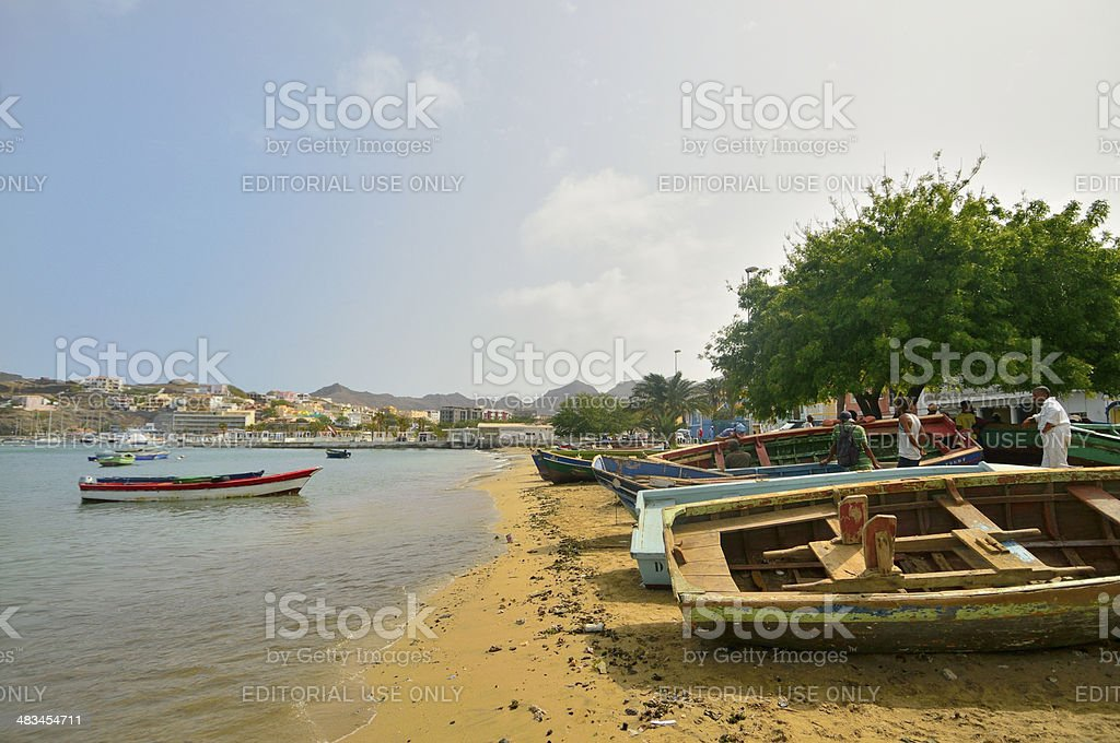 Mindelo Boat Repair stock photo