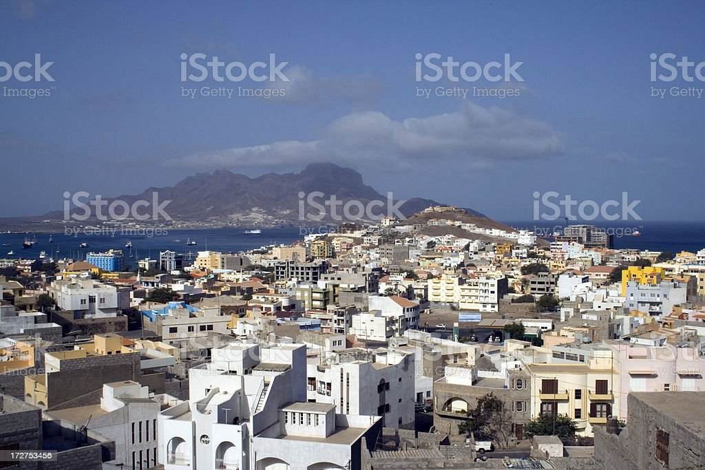 Mindelo, Cape Verde Islands stock photo