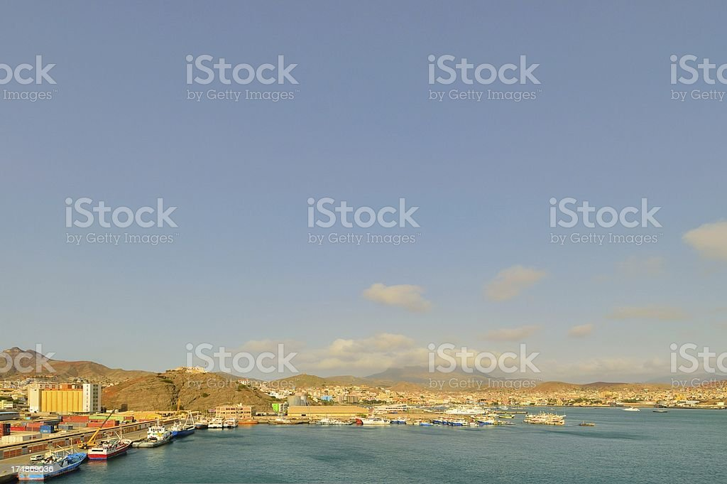 Mindelo Cityscape stock photo
