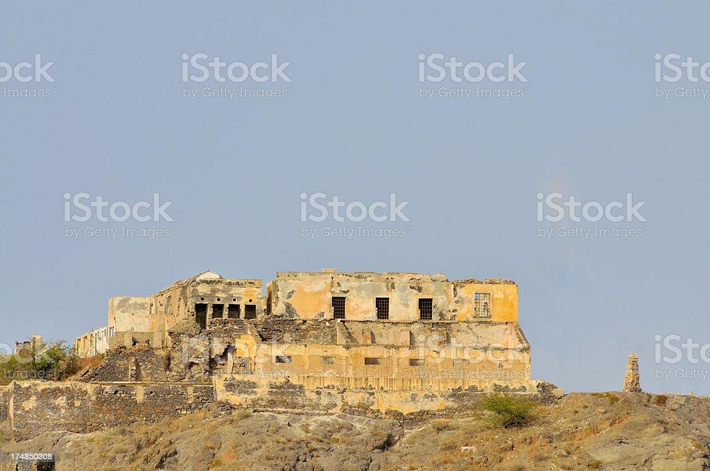 Mindelo Historic Fortress stock photo