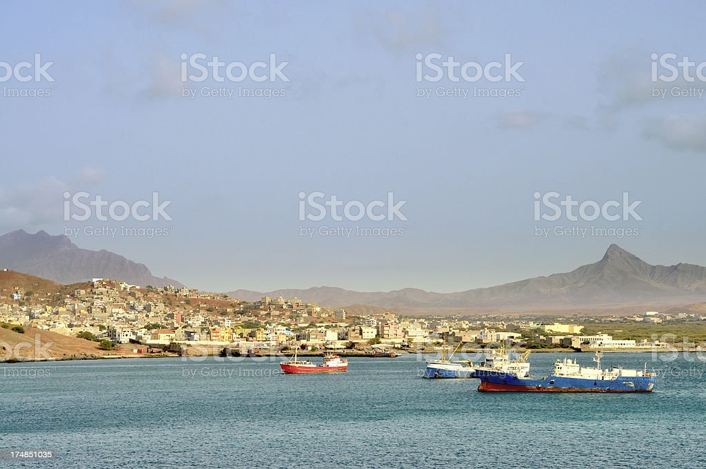 Mindelo Marina Scene stock photo