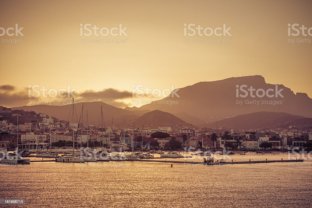 Mindelo (São Vicente, Cape Verde) stock photo