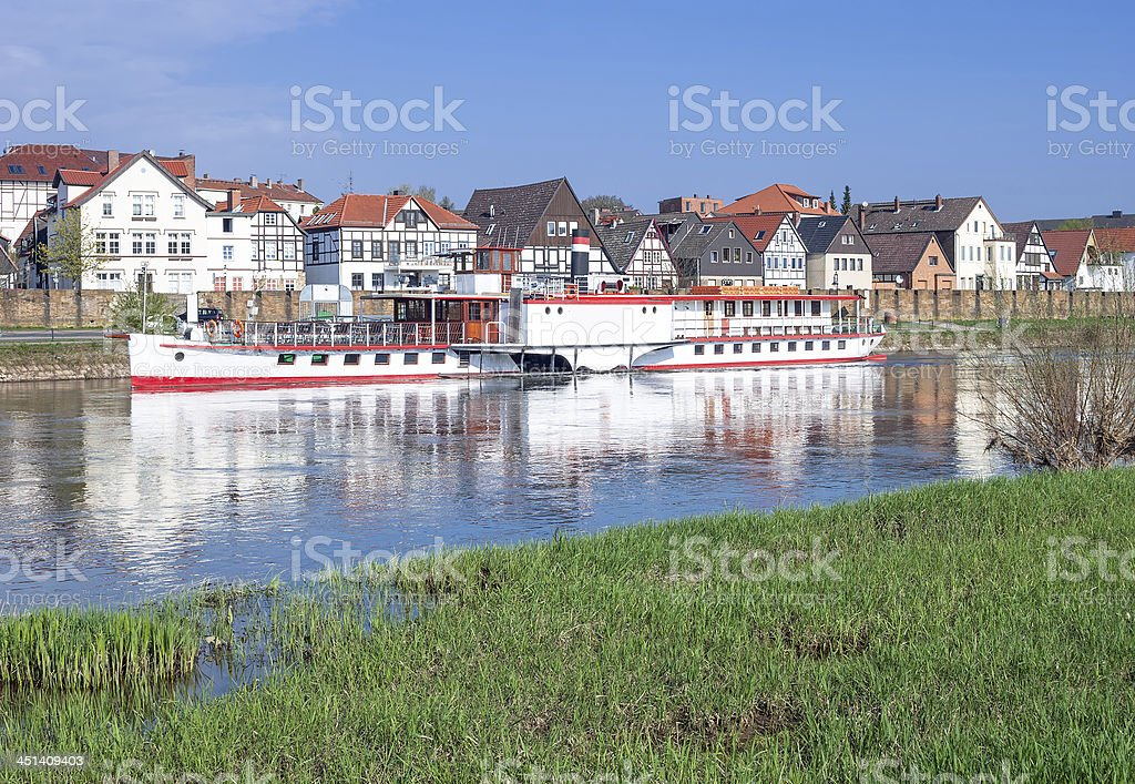 Minden,Weser River,Germany stock photo