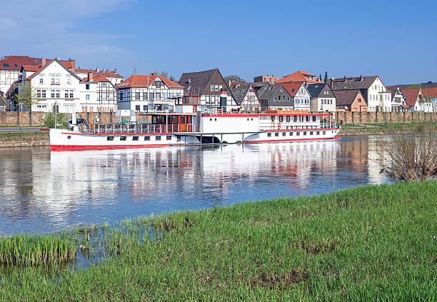 Minden, Weser Fluss, Deutschland – Foto