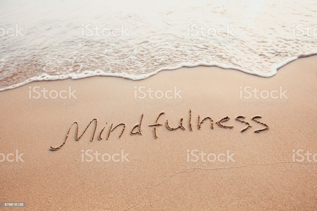 mindfulness concept, mindful living stock photo