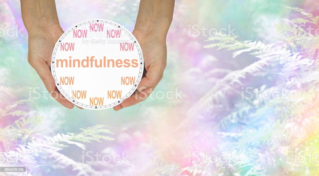 Mindfulness - do it NOW stock photo