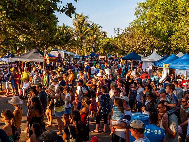 mindil beach sunset market in darwin, australia - darwin stock photos and pictures