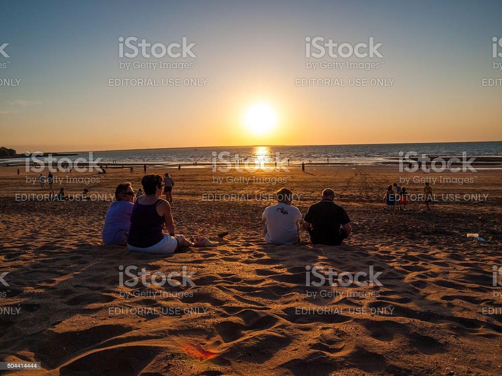 Mindil Beach Sunset Market in Darwin, Australia stock photo