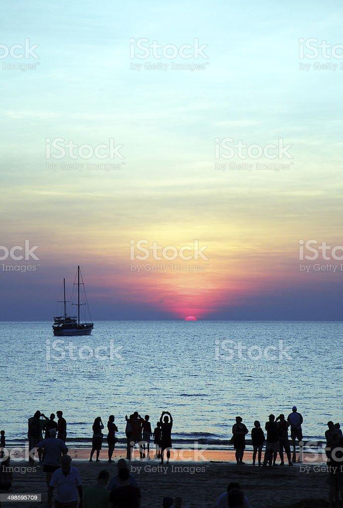 Mindil sunset stock photo