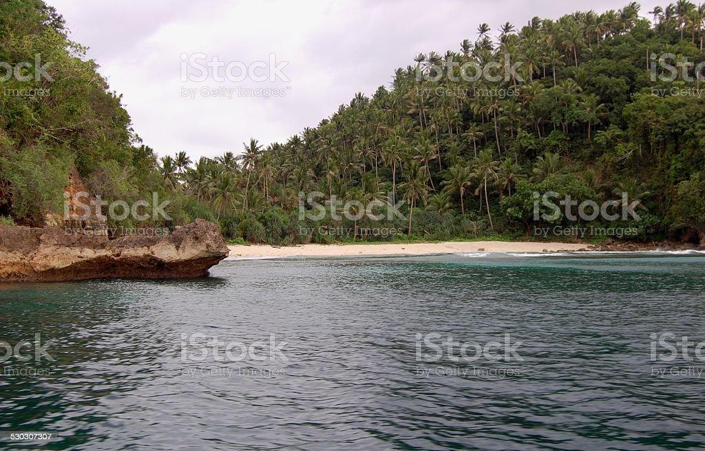Mindoro island, deserted beach Philippines stock photo