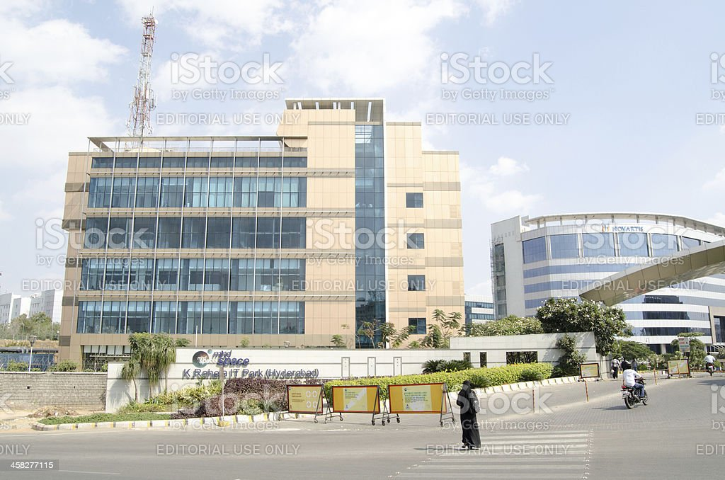 Mindspace Offices, Hyderabad royalty-free stock photo