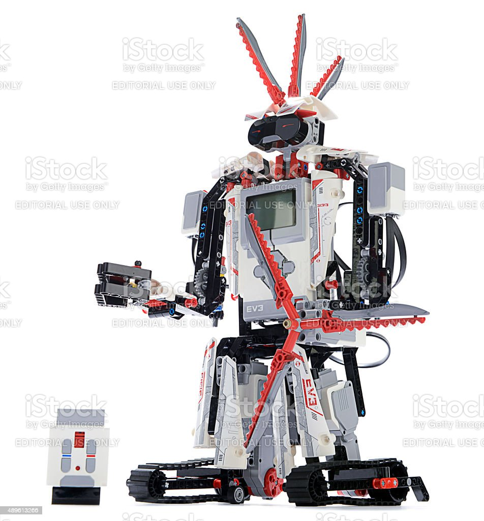 Lego Mindstorms Ev3 With Remote Stock Photo - Download Image Now