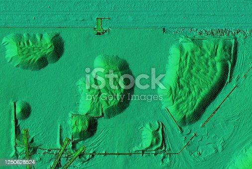 istock Mine area and aggregate storage 1250628524