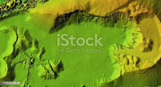 istock Mine area and aggregate storage 1250628526