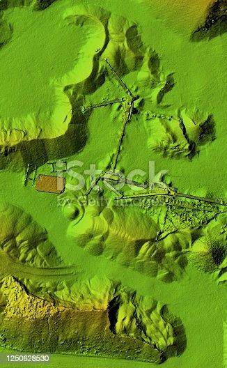 istock Mine area and aggregate storage 1250628530