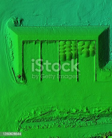 istock Mine area and aggregate storage 1250628544