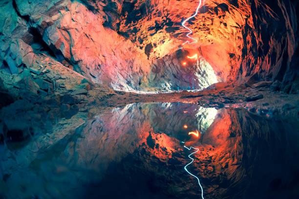 mine in the Alps, Switzerland stock photo