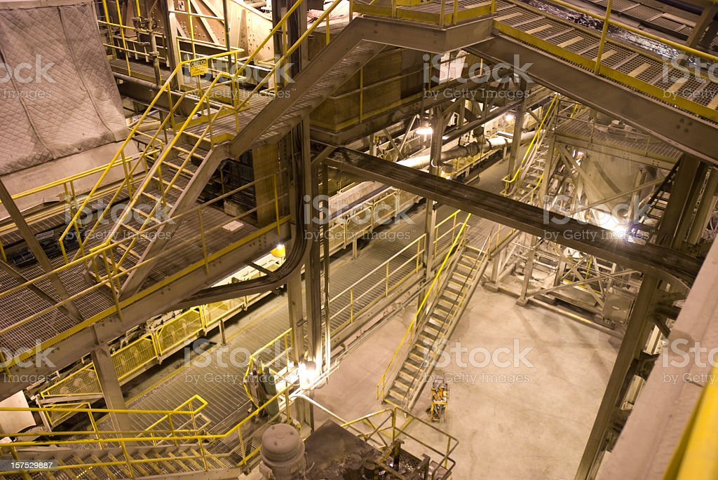 Mine Industrial Interior. stock photo