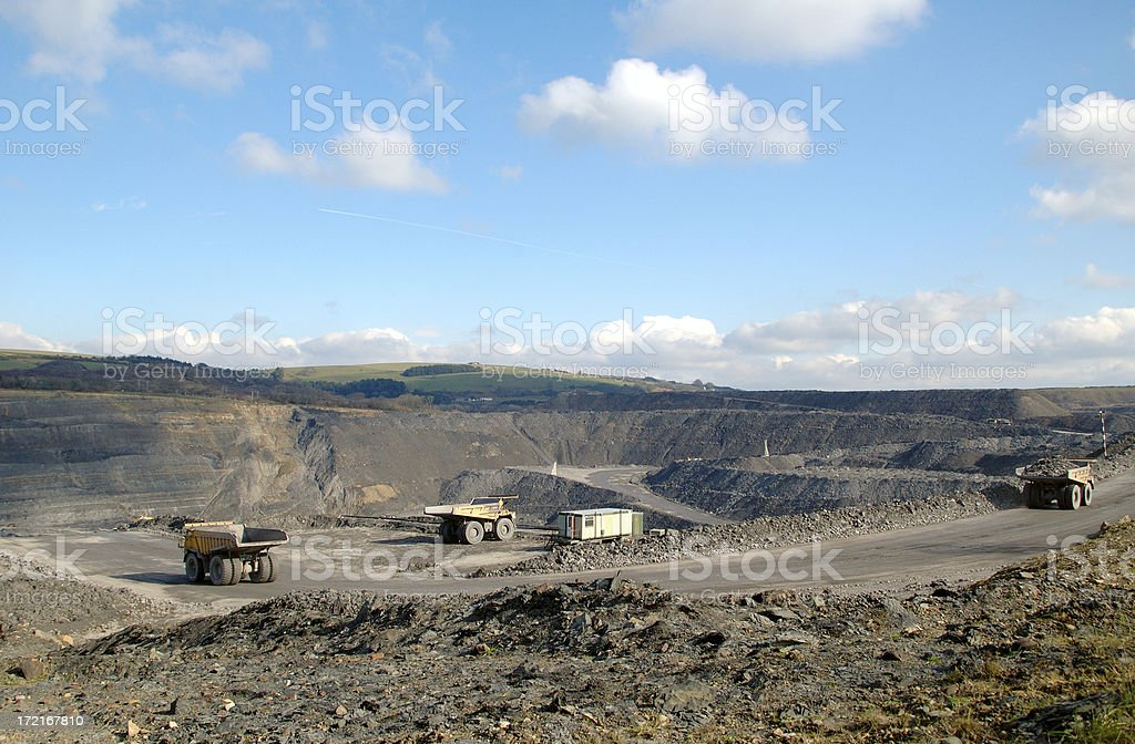 mine pit royalty-free stock photo