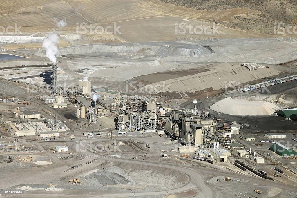 Mine processing facility stock photo