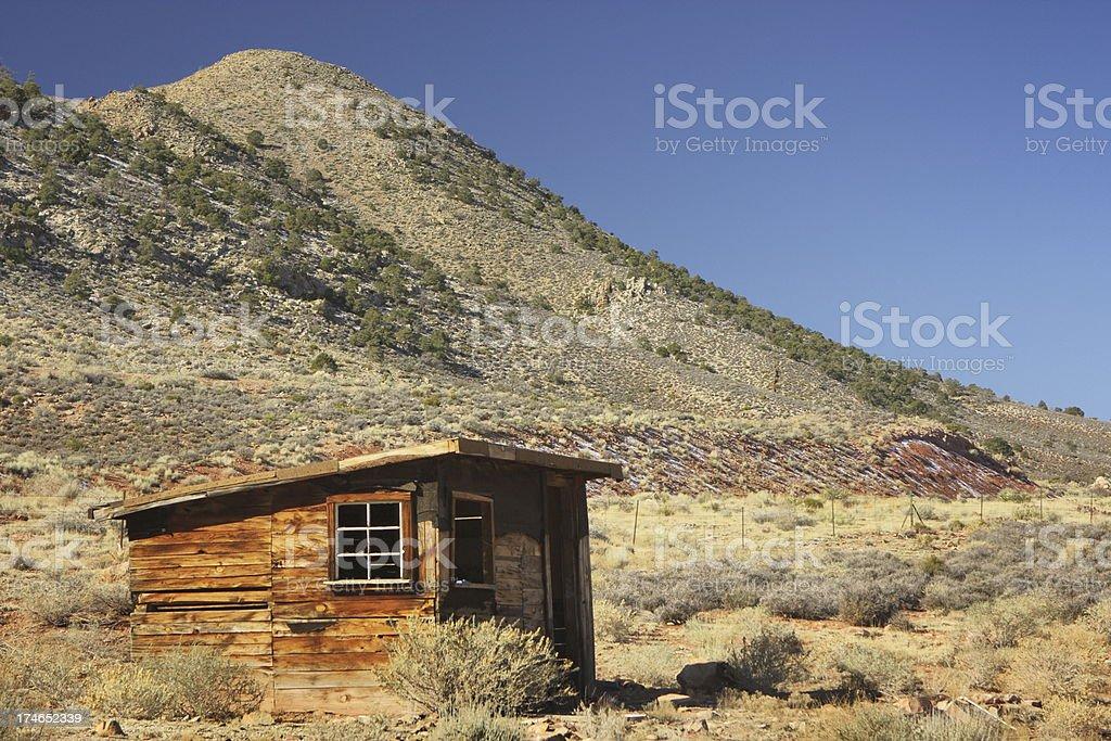 Mine Shack Desert Ruin royalty-free stock photo