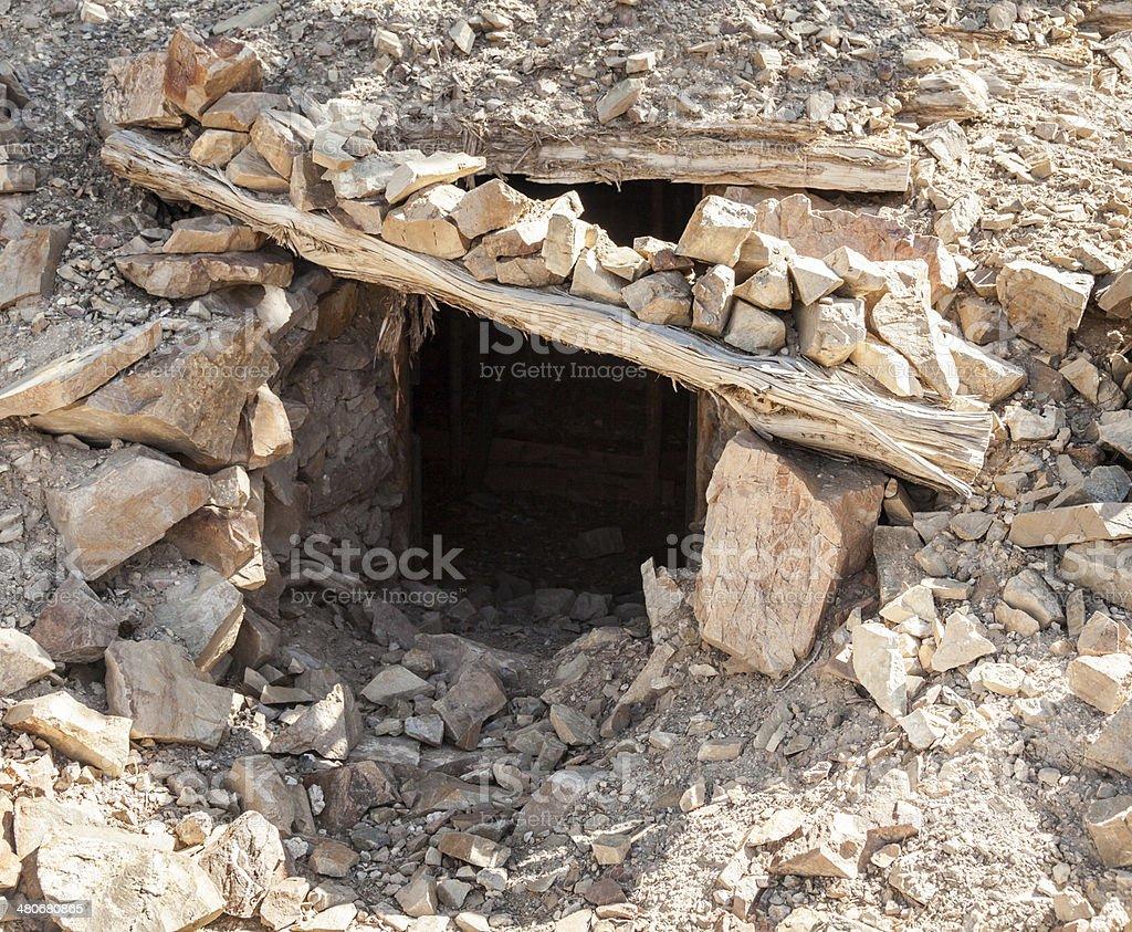 Mine Shaft Entrance stock photo
