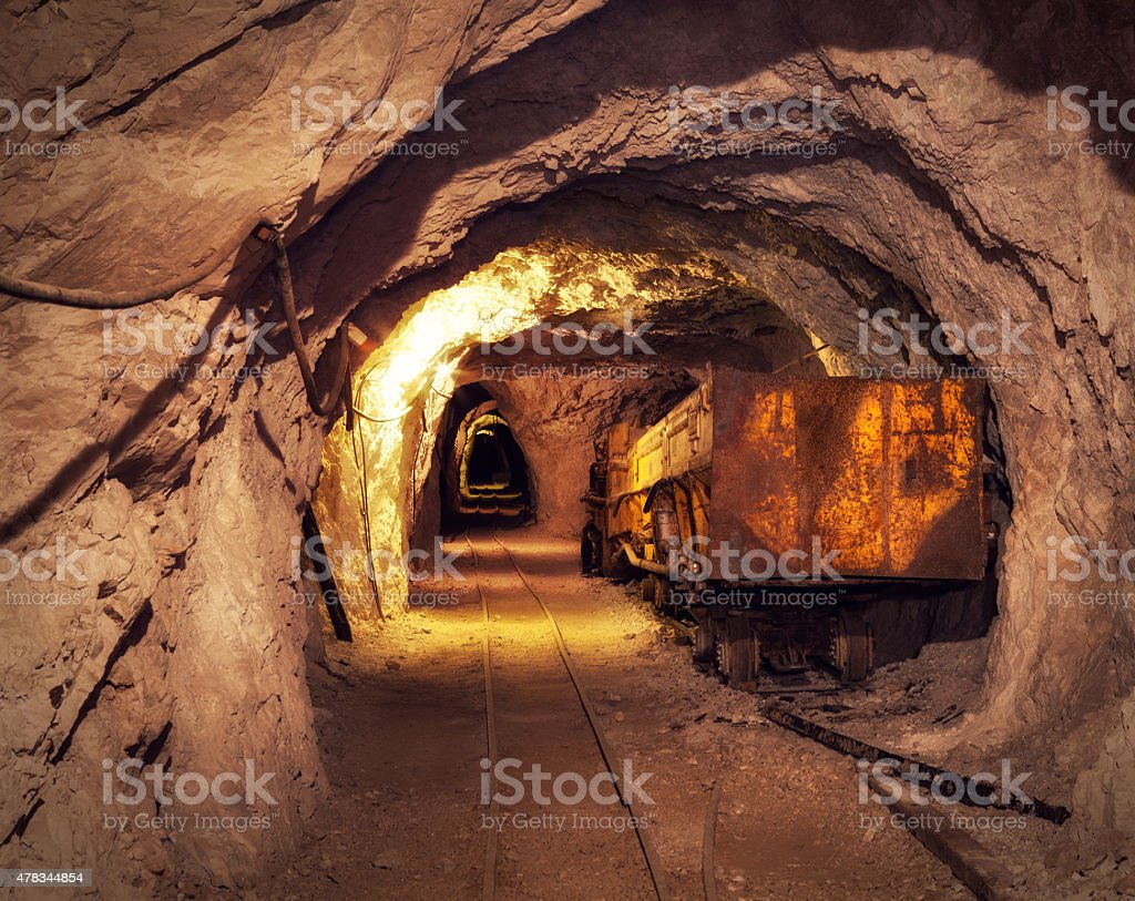 Mine Shaft stock photo
