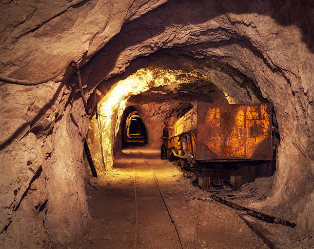 mine shaft - gold mine stock photos and pictures
