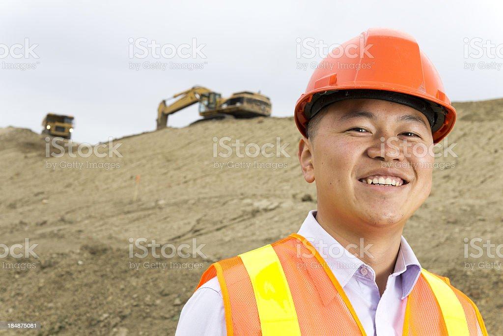 Mine Site Supervisor royalty-free stock photo