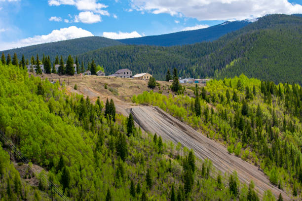 Mine Tailings From Old Abandoned Mine Colorado has a rich history of gold and silver mining minturn colorado stock pictures, royalty-free photos & images