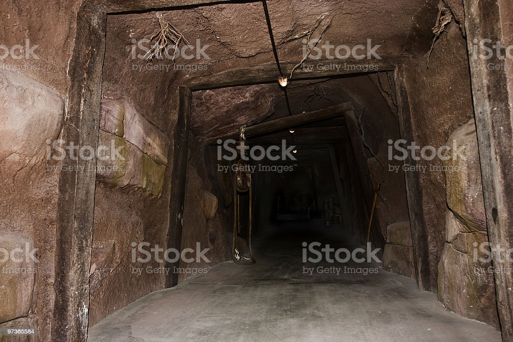 Mine tunnel royalty-free stock photo