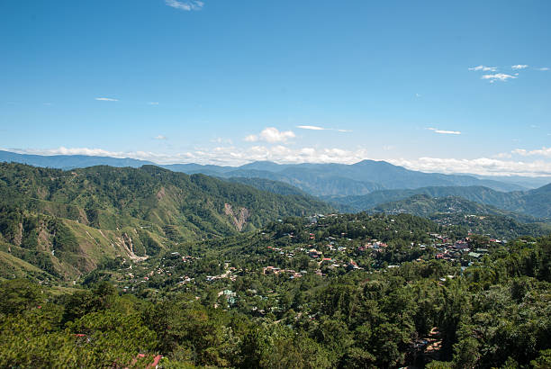 mine view park scenery - baguio city stock photos and pictures