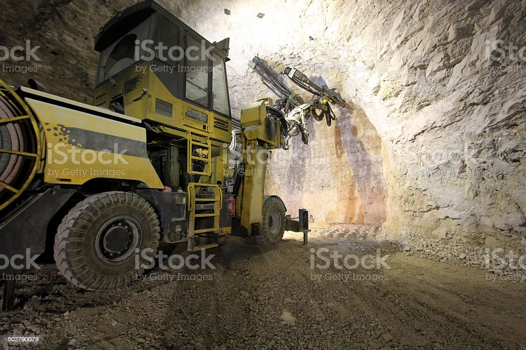 Mine work stock photo
