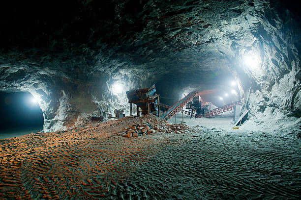 Mine work underground Mine work underground mining natural resources stock pictures, royalty-free photos & images