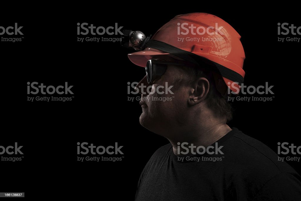 Mine Worker royalty-free stock photo