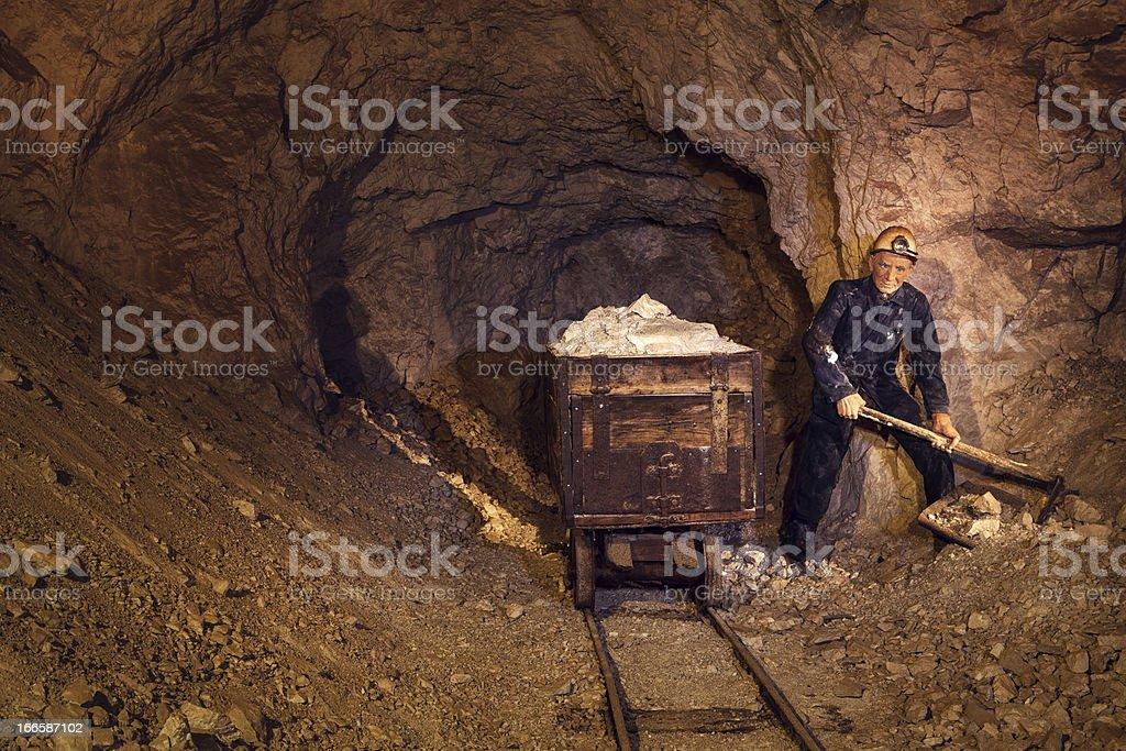 Mine Worker stock photo