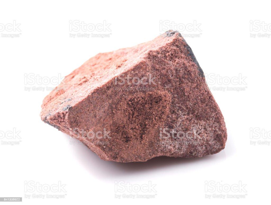 Bauxite minéral isolé sur blanc - Photo