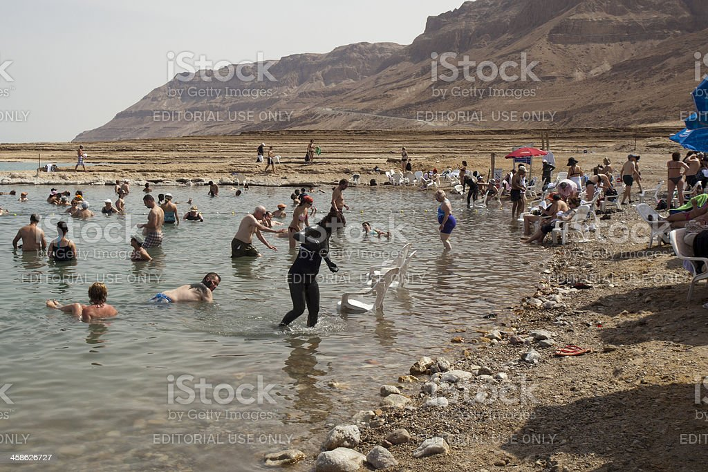 Mineral Beach, Dead Sea, Israel royalty-free stock photo
