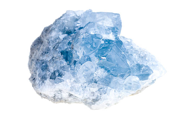 mineral celestite stock photo