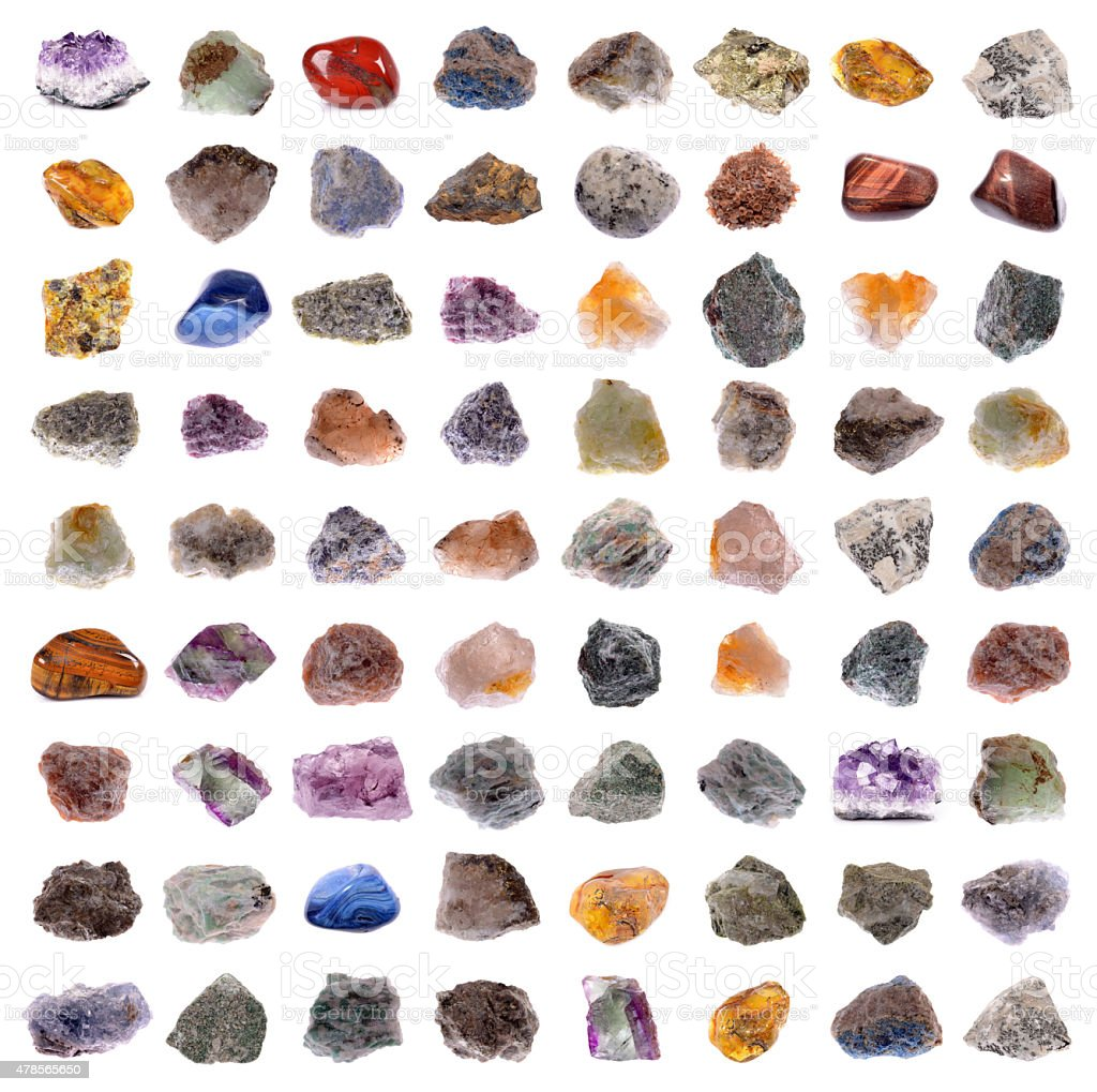 Mineral collection stock photo